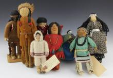 (8) HANDMADE NATIVE AMERICAN DOLLS