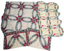 (3) HANDMADE AMERICAN QUILTED DECORATIVE PIECES