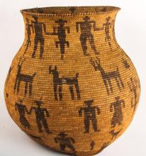 NATIVE AMERICAN | BASKETS, POTTERY, BLANKETS, RUGS, POINTS, ARTIFACTS, TOOLS