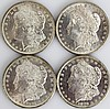 (4) MORGAN SILVER DOLLARS MINT STATE