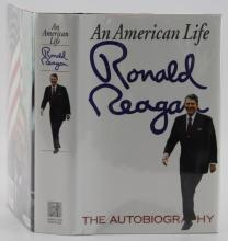 AN AMERICAN LIFE BY RONALD REAGAN SIGNED