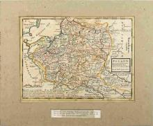1729 POLAND MAP BY HERMAN MOLL