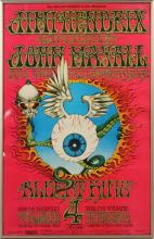 BILL GRAHAM SERIES BG # 105 JIMI HENDRIX POSTER