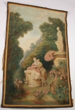 AFTER JEAN HONORE FRAGONARD PAINTED TAPESTRY