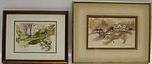 (2) ANNETTE BUSH ORIGINAL WATERCOLOR PAINTINGS