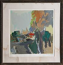TARKAY ABSTRACT LANDSCAPE LIMITED ED SIGNED LITHO