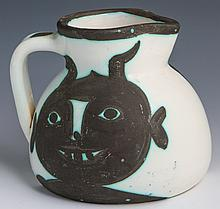 MADOURA EDITION PICASSO HEADS PITCHER