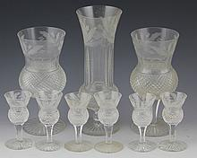 (9) EDINBURGH THISTLE CRYSTAL STEMWARE