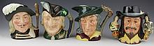 (4) ROYAL DOULTON FIGURAL TOBY JUGS LARGE