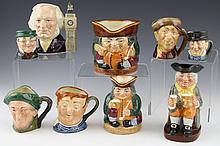 (9) ROYAL DOULTON FIGURAL TOBY JUGS SMALL