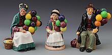 THREE ROYAL DOULTON BALLOON PORCELAIN FIGURES