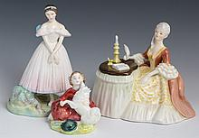 (3) ROYAL DOULTON PORCELAIN FIGURES