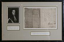 GINKEL GODERT EARL OF ATHLONE SIGNED LETTER