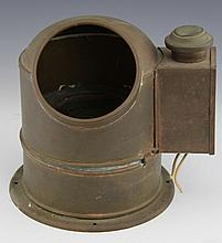 BRASS SESTREL BINNACLE WITH COMPASS AND LIGHTING
