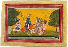 BASHOLI PAHARI SCHOOL MINIATURE PAINTING SHIVA