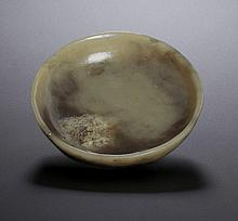 A YELLOW JADE CIRCULAR BOWL
