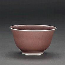 A CHINESE RED-GLAZED BOWL