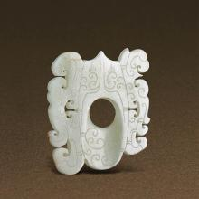 A CHINESE WHITE JADE PENDANT, SHE