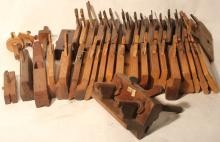 LOT OF 41 19TH C WOODEN PLANES TO INCLUDE