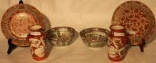 LOT OF 6 PIECES OF ORIENTAL PORCELAIN TO INCLUDE