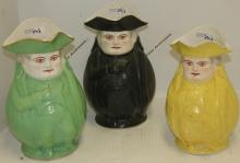 COLLECTION OF 3 PORCELAIN NAPOLEON JUGS BY