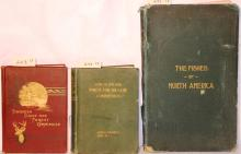 3 BOOKS.  ONE TITLED FISHERIES, GAME AND FOREST