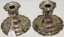 PAIR OF REED & BARTON STERLING CANDLESTICKS,