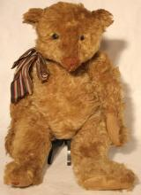 STEIFF TEDDY BEAR (1905-1907), REPAIRED ANKLE, NO