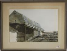 FRAMED WATERCOLOR BY WILLIAM PRESTON, THE OLD