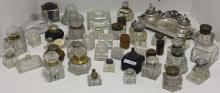 LARGE COLLECTION OF 42 ANTIQUE INKWELLS, 4