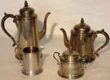 4 PIECE STERLING SILVER TEA SET BY REED & BARTON