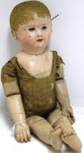 19TH C PAINTED HEAD CLOTH DOLL BY MARTHA CHASE,
