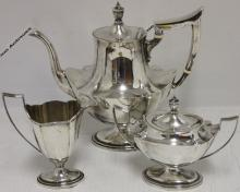 3 PIECE STERLING SILVER TEA SET BY GORHAM IN THE