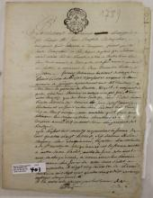 SIGNED LEASE AGREEMENT DATED 1789, FRENCH