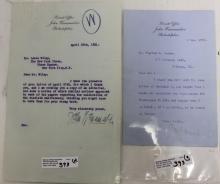 TWO SIGNED LETTERS BY JOHN WANAMAKER, MERCHANT,