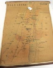 TWO EARLY ROLL-UP MAPS OF PALESTINA, DAMASCO &