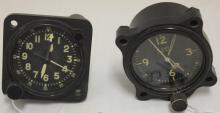 TWO 20TH C AIRPLANE CLOCKS POSSIBLY WORLD WAR II.