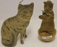 TWO EARLY 20TH C CATS.  ONE IS STEIFF SKITTLE,