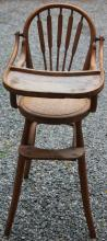 CA 1900 AMERICAN BENTWOOD HIGH CHAIR WITH