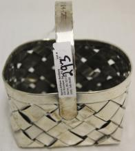 CARTIER STERLING SILVER BASKET, DATED ON HANDLE