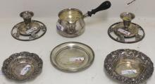 SIX PIECES OF STERLING SILVER TO INCLUDE A PAIR