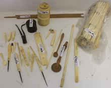 30 MISC. PIECES OF 19TH C WHALING IMPLEMENTS TO