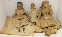 DOLL LOT TO INCLUDE 3 DOLLS AND 10 PCS OF DOLL