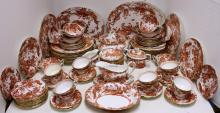 104 PIECE SET ROYAL CROWN DERBY DINNER SET FOR