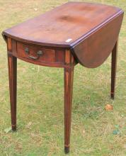 LATE 18TH C NEWPORT, RI, INLAID MAHOGANY
