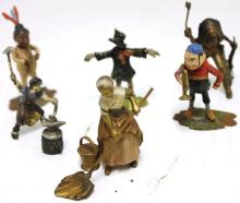 CA 1900 LOT OF SIX AUSTRIAN COLD PAINTED BRONZES