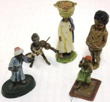 CA 1900 LOT OF FIVE AUSTRIAN COLD PAINTED BRONZES