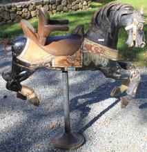EARLY 20TH C CHILDS CAROUSEL HORSE BARBER CHAIR