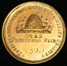 CA 1890, 14KT GOLD UTAH TERRITORIAL FAIR