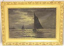 CLEMENT DREW (1806-1889, MASS. ARTIST), OIL